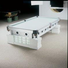 Crisp White Pool Table