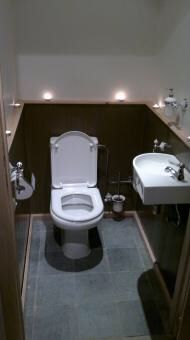 Wc in de kalkverf van cartecolori kleuren coloseum en piombo toilet pinterest - Stijl van toilet ...