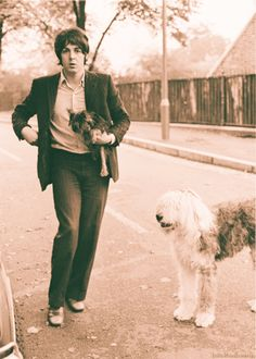 Paul taken his pups for a walk