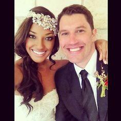 Stunning interracial couple on their wedding day #love #wmbw #bwwm