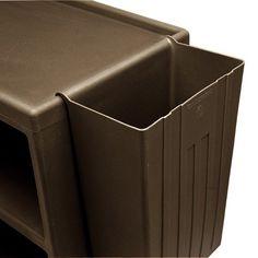 Cambro BC11TC131 Brown 11 Gallon Trash Container for Service Carts