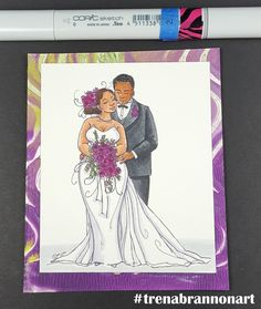 #greetingcard #thebrannonfactory #copiccoloring by #trenabrannonart image by #momanning #marriage #wedding #love #couples #simonsaysstamps