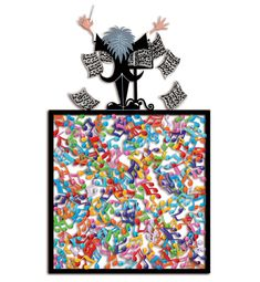 """David Kracov Art - Sculptures Murales - """"Shadow Box"""", """"Book of Life""""... Art Sculpture, Metal Wall Sculpture, Wall Sculptures, Keith Haring, Andy Warhol, Personnages Looney Tunes, Types Of Visual Arts, Pop Art, Free Standing Sculpture"""