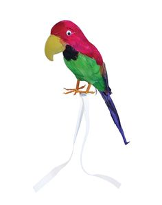 """$6.77 Parrot. Feather Covered. 15"""" (Costume Accessories) - Unisex - 15"""" - Costume Accessories - Parrot. Feather Covered. 15"""" (Costume Accessories) - Unisex - 15"""" - Red Hot Fancy Dress Australia, Licensed Film, TV and Cartoon Hero Costumes. Dress as your favourite movie star or Hero. - (Powered by CubeCart)"""