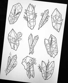 Gem and jewel planner doodles
