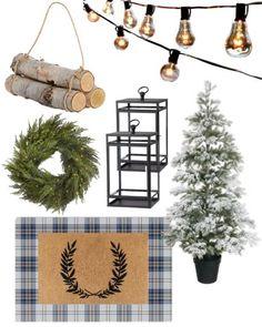 Cabin Christmas, Whimsical Christmas, Farmhouse Christmas Decor, Elegant Christmas, Plaid Christmas, Vintage Christmas, Christmas Holidays, Christmas Decorations, Birch Logs
