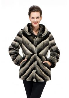 Victoria dream/faux chinchilla fur with pop pattern/short fur coat