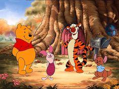 Pooh Bear, Piglet, Tigger, and Roo ((:
