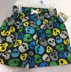 5b60018314c9e3 OP Boys Swimsuit Infant 24 Months Skull Design Blue Black UPF 50 Shorts