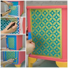 How to stencil a recessed panel | Indian Stencil Collection | Royal Design Studio