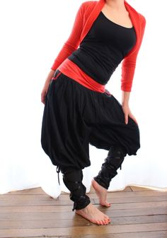 Sarouel, sarouel jeune créateur, french style, pants, red and black, kossaks style,