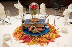 One Bride's Love of Disney Movies Inspired These Jaw-Dropping DIY Centerpieces wedding centerpieces These Super Elaborate, Disney-Inspired Centerpieces Will Actually Blow Your Mind Wedding Table, Fall Wedding, Diy Wedding, Wedding Ideas, Dream Wedding, Quirky Wedding, 1920s Wedding, Wedding Seating, Wedding Vows