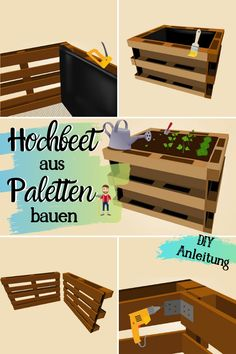 Build pallets raised bed yourself A raised bed doesn& have to be expensive- Paletten Hochbeet selber bauen Ein Hochbeet muss nicht teuer sein Es lässt Build pallets raised bed yourself A raised bed must … - Building Raised Beds, Raised Garden Beds, Raised Bed Diy, Potager Palettes, Jardin Vertical Artificial, Garden Projects, Diy Projects, Outdoor Projects, Summer Decoration
