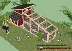 home garden plans: S100 - Chicken Coop Plans Construction - Chicken Coop Design - How To Build A Chicken Coop