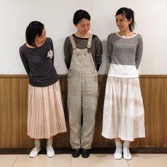 申し合わせたように3人が同じリネンのセーターを着て来てびっくり。めったにない出来事で朝から笑みがこぼれました。#lisette #リゼッタ#リネンセーター#阪急うめだ#二子玉川の散歩道#smile#