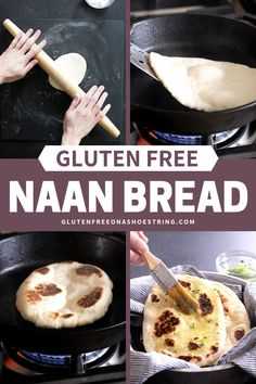 This Gluten Free Naan Bread is one of my most popular recipes! This easy recipe is made extra soft and tender with yogurt, eggs and a bit of butter or ghee in the dough. Make the dough ahead of time, and then fry it up in a pan in minutes! My recipe Homemade Naan Bread, Recipes With Naan Bread, Gf Recipes, Dairy Free Recipes, Easy Recipes, Recipes Dinner, Wheat Free Recipes, Oven Recipes, Amazing Recipes