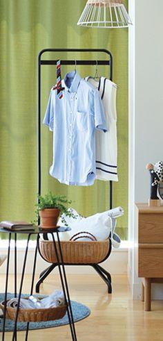 【写真】WALLABY HANGER STAND ワラビーハンガースタンドがあるシーン Hanger Stand, Hanger Rack, Rattan, Wardrobe Rack, Interior, Stuff To Buy, Shopping, Furniture, Lights