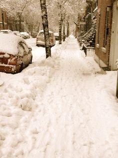 Montréal sous la neige - Montreal under snow (Quebec)