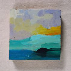 Small square abstract oil painting - original oil painting - Fresh spring de MariaMazaPaintings en Etsy
