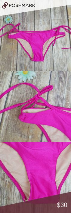 Amuse society bikini Brand new all pink bottom with high ties just no yags Amuse Society Swim Bikinis
