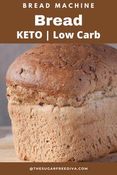 Low Calorie Bread Machine Recipe, Bread Machine Wheat Bread Recipe, Lowest Carb Bread Recipe, Bread Machine Recipes Healthy, Diet Recipes, Cuisinart Bread Maker Recipe, Bread Maker Recipes, Yeast Bread Recipes, Sugar Free Bread