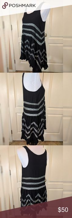 """Free People trapeeze Black Style:?22878656?Color Code:?001  Sheer dotted slip dress with lace inset throughout. Ruffled hem.  Intimately  100% Rayon  Hand Wash Cold  Import  Model is?5' 9"""" (175 cm)?wearing a size Small  Bust: 36.0"""" = 91.44 cm  Waist: 48.0"""" = 121.92 cm  Front Length: 31.5"""" = 80.01 cm  Side Length: 33.5"""" = 85.09 cm  New without tags, no defects, no trades! Free People Dresses Mini"""