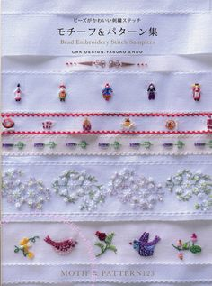 Bead Embroidery Stitch Samplers Japanese Craft Book por PinkNelie