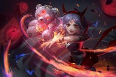Blood Moon Annie skin concept😍 Art by Helin Lee Ahri Skins, Annie League Of Legends, Blood Moon, Anime, Funny Games, Wallpaper, Female Characters, Game Art, Fantasy Art