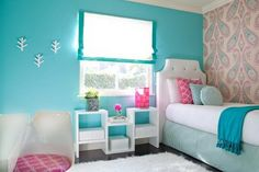Blue Girl's Bedroom http://hative.com/50-teenage-girl-bedroom-ideas-design/