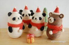 羊毛フェルト くま クリスマス - Yahoo!検索(画像)