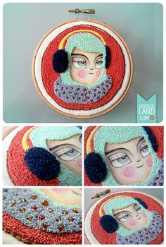 Lovely punched embroidery by Etsy artist, Gusosos. #punched #embroidery #gusosos