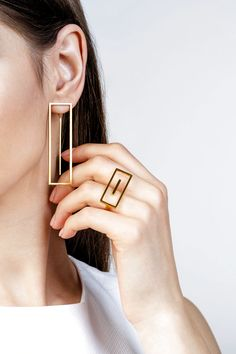Minimalist Architectural Jewelry - Earrings and Ring . - Minimalist Architectural Jewelry – Earrings and Ring … : Minimalist Architectural Jewelry - Earrings and Ring . - Minimalist Architectural Jewelry – Earrings and Ring … - Geometric Jewelry, Modern Jewelry, Fine Jewelry, Women's Jewelry, Jewelry Accessories, Bridal Jewelry, Jewelry Armoire, Pandora Jewelry, Jewelry Findings