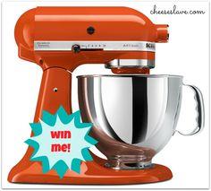 kitchenaid mixer giveaway from CHEESESLAVE