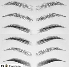 Szemöldök is part of eye-makeup - eye-makeup Eyebrows Sketch, Mircoblading Eyebrows, How To Draw Eyebrows, Permanent Makeup Eyebrows, Eyebrow Makeup, Drawing Eyebrows, Eyebrow Shading, Korean Eyebrows, Cool Art Drawings