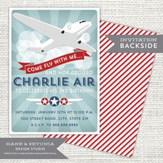 Airplane Birthday Party Favor Tags Personalized Printable