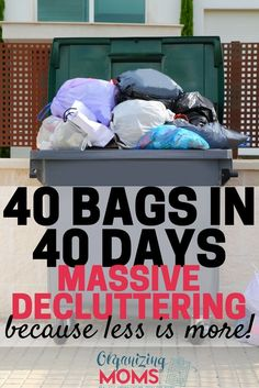 Ready to do some serious decluttering? Join the 40 Bags in 40 Days Challenge!  via @organizingmoms