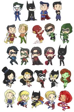 Super heróis minis muita fofura