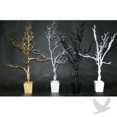 Manzanita Trees & Branches for a babyshower gift card tree? I could do this, but I don't think I would paint them. Black Wedding Themes, Pink Wedding Theme, Wedding Centerpieces, Wedding Flowers, Wedding Decorations, Wedding Ideas, Wedding Stuff, Dream Wedding, Gold Wedding
