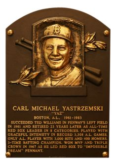 Carl Yastrzemski, LF, Boston Red Sox, Baseball Hall of Fame