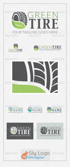 Green Tire Logo Template  #GraphicRiver         High-quality logo template, very easy to customize. Perfect for tire-related companies, transport and carrier agencies, recycle companies.   Includes: - Realizable vector logo (AI, EPS); - Vector black and white version; - Vector horizontal and vertical display; - Three color variations (blue, gray, green).     Created: 16September13 GraphicsFilesIncluded: VectorEPS #AIIllustrator Layered: Yes MinimumAdobeCSVersion: CS3 Resolution: Resizable…