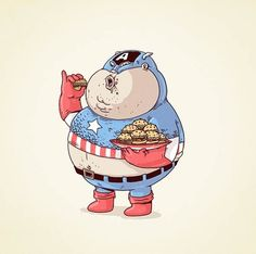 What if Superheroes Were Fat? | 123 Inspiration