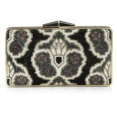 Judith Leiber Garbo Crystal Deco Pattern Clutch ($2,197) ❤ liked on Polyvore