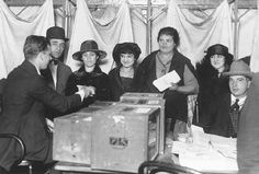 Women cast their vote for president for the first time in November 1920. This was one of the changes taking place in the United States during the 1920s.