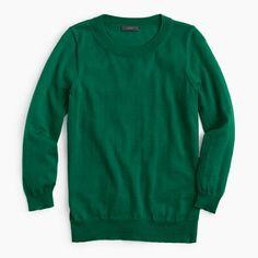J. Crew Petite Tippi sweater - academic green or heather breeze