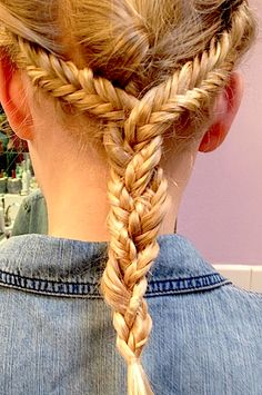 Triple fish-tail Braid