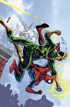 Spider-Man vs. Electro (Marvel Adventures Spider-Man Vol.1 #5 Cover) By: Tony Daniel. ÅWESOMENESS!!!