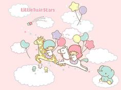My favorite Sanrio characters from when I was a kid: Little Twin Stars.
