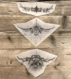 sternum tattoos. love the middle one