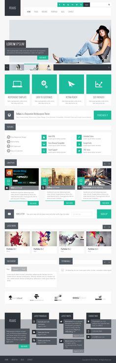 Responsive Design / Retina Ready WordPress Themes #wordpressthemes #responsivedesign #premiumwordpressthemes