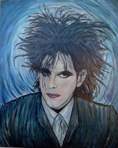 Portrait  Robert Smith The Cure  16x20 CROWELL OIL PAINTING Original Signed COA #Impressionism #RobertSmith #TheCure